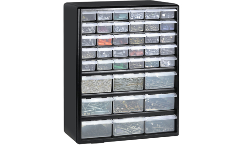 5. Greenpro 3309 Wall Mount Hardware and Craft Storage Cabinet Drawer Organizer