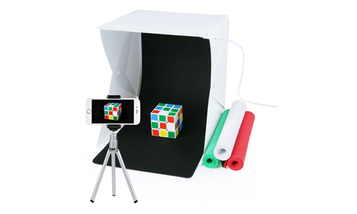6. Portable Photo Studio,URiver Mini Folding Table Top LED Light Box and Photography Lighting Tent with 4 Backdrops Kit