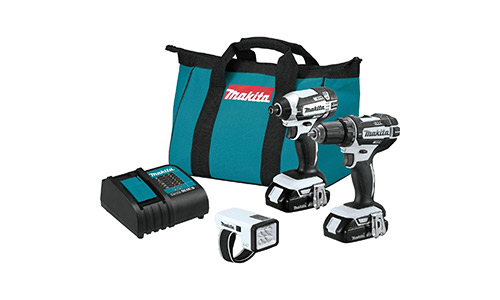 3. Makita CT322W 18V LXT Lithium-Ion Compact Cordless 3-Pc. Combo Kit