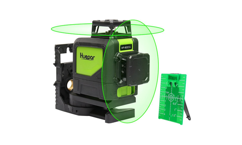 3. Huepar Self-Leveling 360 Laser Level - Mute Levelsure 902CG Green Beam 150 Ft Vertical Horizontal Line