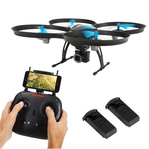 SereneLife WiFi FPV Drone with HD Camera and Live Video. Headless Mode Quadcopter
