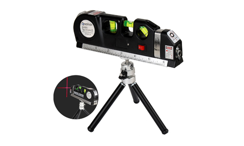 9. Qooltek Laser Level Line Laser Measure +8ft Tape Ruler Adjusted Standard and Metric Rulers