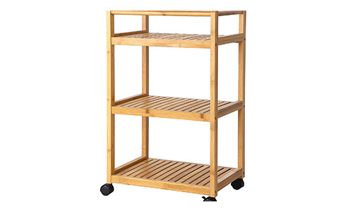 5. SONGMICS Bathroom Storage Cart, Serving Bar Cart,Utility Trolley Organizer Rack