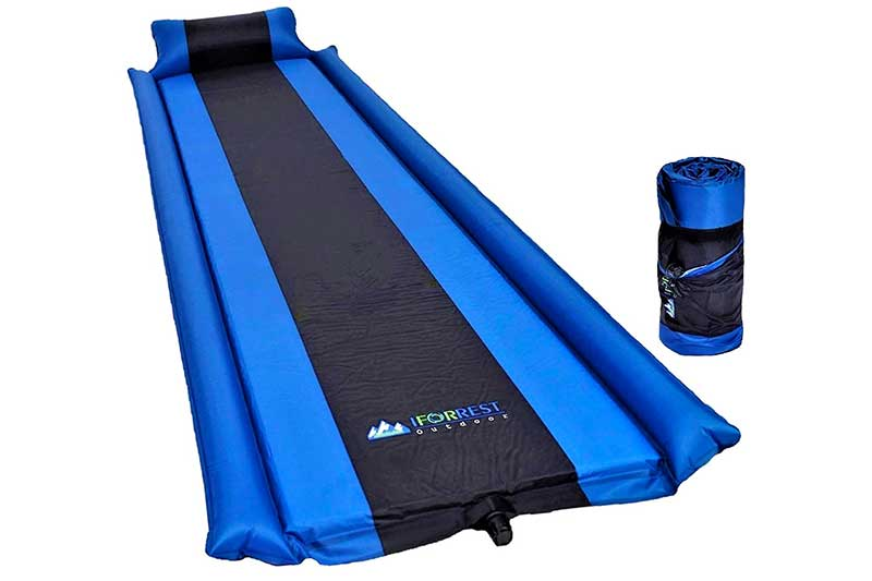 IFORREST Sleeping Pad with Armrest & Pillow - Self inflating Sleeping Pad is Ideal for Camping Hiking Backpacking - Camping Pad