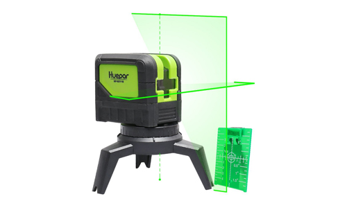 8. Cross Line Laser Level with Plumb Dot Up Dot - Huepar 9211G Green Beam Self Leveling 180 Degrees Vertical Line and Horizontal Line