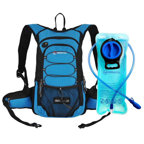 MIRACOL Hydration Backpack with 2L Water Bladder, Thermal Insulation Pack Hydration Vest