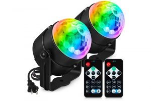 Party Lights Sound Activated, Petronius Disco Ball Strobe Light with Remote Control, Portable DJ Dance Lighting