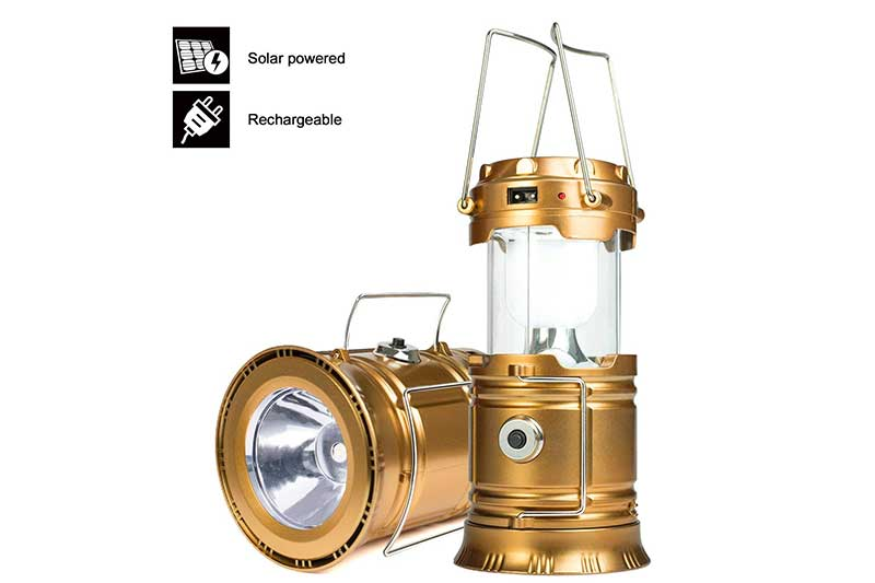 YIEASY Led Camping Lantern, Rechargeable Solar Lanterns Collapsible