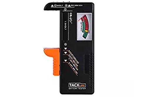 Battery Tester, Tacklife MBT01 Universal Battery Checker for AA AAA C D 9V 1.5V Button Cell Batteries, Digital Battery Tester Volt Checker Tool with 24 Months Warranty