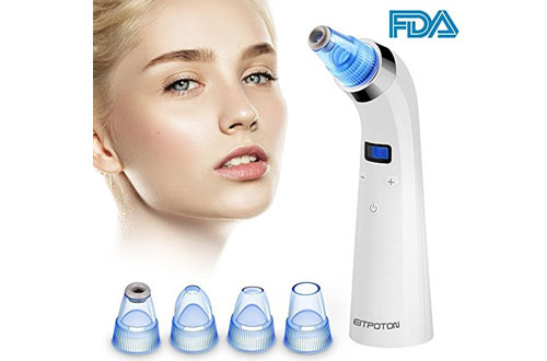 Blackhead Remover, Eitpoton Electric Blackhead Vacuum Suction Removal