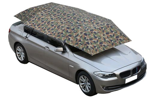NINTE Car Tent Automatic Folded Remote Control Portable Auto Protection Umbrella Shelter Car Hood 82x157 inches (camouflage)