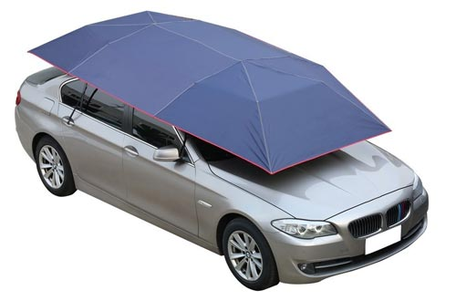 NINTE Car Tent Automatic Folded Remote Control Portable Auto Protection Umbrella Shelter Car Hood 82x157 inches (navy blue)