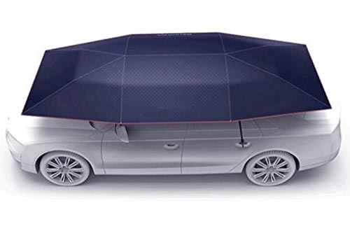 "Car Tent Movable Carport Folded Portable Automobile Protection Car Umbrellas Sunproof Car Canopy Cover (177""Lx91""W)"