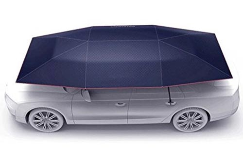 """Car Tent Carport with Remote Control Folded Portable Automobile Protection Umbrella Sunproof Car Canopy Cover(177""""Lx91""""W/Automatic and Manual 2 in 1)"""
