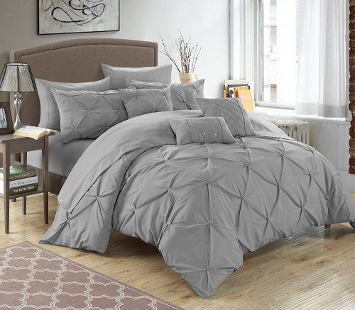 Chic Home 10 Piece Hannah Pinch Pleated