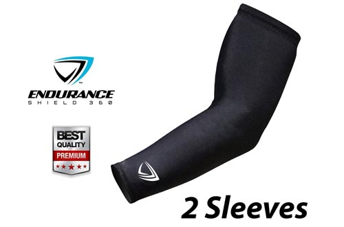 Premium Arm Compression Sleeves (2 pcs) - Athletic Arm Sleeves Perfect for Lymphedema, Basketball, Baseball, Running & Outdoor Activities