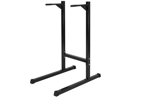Best Choice Products Dipping station Dip Stand Pull Push Up Bar Fitness Exercise Workout Gym 500lbs