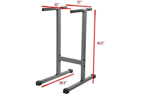 XMark Fitness Dip Station 500 lb. Weight Capacity Uniquely Engineered Angled Uprights Accommodate Men and Women XM-4443