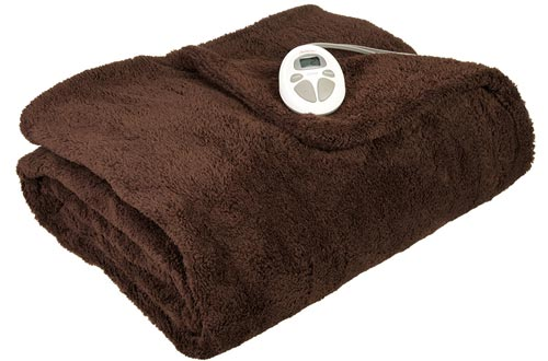 Sunbeam LoftTech Heated Blanket, Twin, Walnut, BSL8CTS-R470-16A00