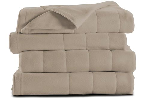 Sunbeam Microplush Heated Blanket, Queen, Mushroom, BSM9BQS-R772-16A00