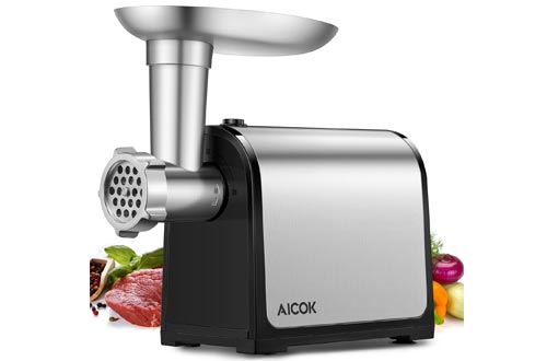 Aicok Electric Meat Grinder, Stainless Steel Meat Mincer & Sausage Stuffer, Heavy Duty Food Grinder