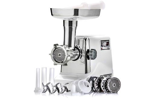 STX International STX-3000-TF Turboforce Electric Meat Grinder & Sausage Stuffer - 3 Speed - Heavy Duty (1200 Watts) -