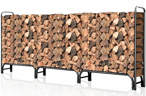 Outdoor Firewood Log Rack for Fireplace 12ft Heavy Duty Firewood Pile Storage Racks
