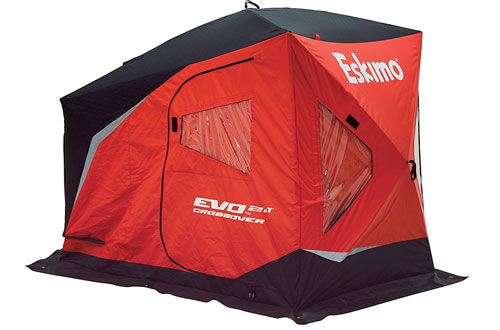 Eskimo EVO IT Portable Flip Style Insulated Ice Shelter with Pop Up Hub Sides