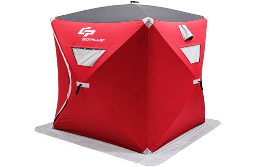 Goplus Portable Ice Shelter Pop-up Ice Fishing Tent
