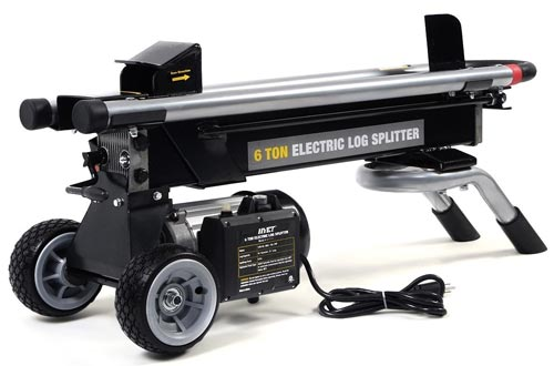 Goplus New 1500W 6 Ton Electric Hydraulic Log Splitters Wood Portable Cutter Powerful