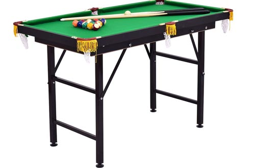 "Costzon 47"" Folding Billiard Table, Pool Game Table Includes Cues, Triangle, Chalk, Brush for Kids"