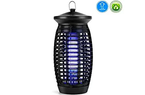 Electric Indoor Bug Zapper, Mosquito Zapper Fly Trap, Insect Killer Fly Zapper Mosquito Trap with 120V UV Bug Light/500 Sq Ft Coverage for Home Garden Patio Yard Office Store (Black)