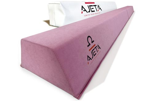 8FT Long Olympic Gymnastics Balance Beams with Carry Bag   A Serious Practice Balance Beam for Kids, Beginners & Professional Gymnasts. Non-Slip Home Gymnastics Beam Folding Down to 4' for Easy Storage (Pink)