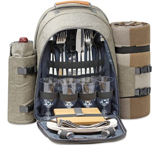 One Earth Home 4 Person Picnic Backpack