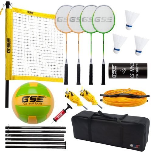 Professional Volleyball & Badminton Complete Set. Come