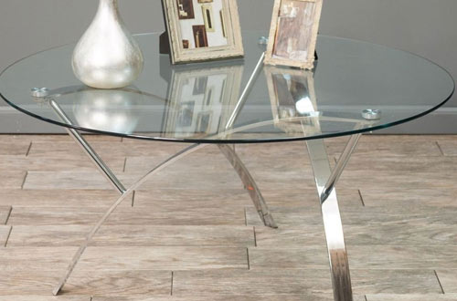 Stylish Round Glass Top Coffee Table