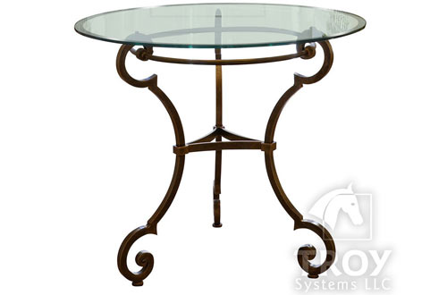 TroySys Round Glass Table Top