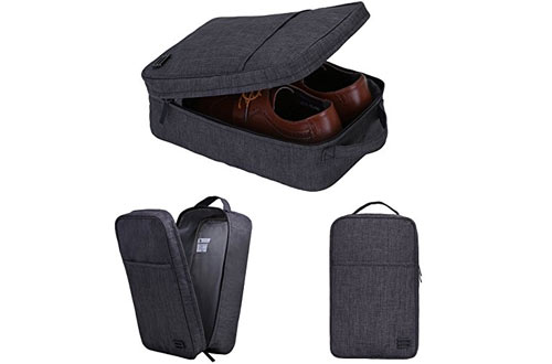 BAGSMART Portable Travel Shoe Bags with Zipper Closure Gym Sport Shoe Tote Bags