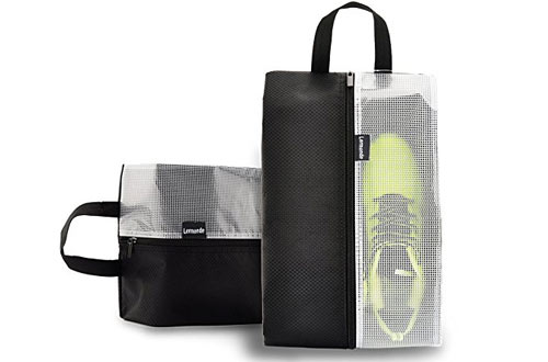 Lermende Travel Shoe Bags Waterproof Nylon Organizer Storage Tote Pouch