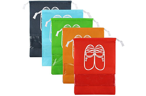 Multicolor Storage Organizer Bag for Men Women 4.6 out of 5 stars 98 customer reviews | 13 answered questions Price: $8.99 + $45.07 Shipping & Import Fees Deposit to Cambodia Details Get $50 off instantly: Pay $0.00 upon approval for the Amazon Rewards Visa Card. Color Name: 5 Medium Colors In Stock. This item ships to Phnom Penh, Cambodia. Want it Thursday, June 7? Order within 12 hrs 3 mins and choose AmazonGlobal Priority Shipping at checkout. Learn more Sold by ZMART and Fulfilled by Amazon. Gift-wrap available. Size: M(medium): 10.62 inch * 13.97 inch; Consists of 5 colorful bags with red, orange, blue, navy, green. Fits up to a size 11 men shoes. Material: Made of high quality non-woven fabric with thick dual drawstring for convenient organization, lightweight, breathable and water repellent. Clear PVC View Window: Easily and quickly identify the content in the Bags. The storange bad helps to keep purses and shoes clean, dust free, and organized! Functional & Versatile: Not only for shoes, can also be used for toys, accessories, toiletries, clothes, or just about anything you want! Not only for travel organizer, but also for closet organizer. One year NO Questions asked warranty GUARANTEED. Great fit for sneakers, dress shoes, boots, high heel shoes and sandals, laundry, shirts and many other luggage essentials. Report incorrect product information. Ad feedback Customers who viewed this item also bought M-jump $10.99 Gillette Venus $6.99 Share Facebook Twitter Pinterest Qty: Add to Cart Turn on 1-Click ordering for this browser Deliver to Morn - Phnom Penh 00855 Add to List Have one to sell? Sell on Amazon