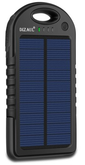 Solar Charger,Dizaul 5000mAh Portable Solar Power Bank