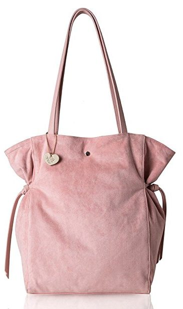 The Lovely Tote Co. Women's Strap Suede Bag Side