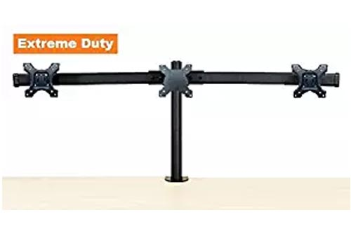 "EZM Deluxe Triple Monitor Mounts Stand Desktop Clamp Supports up to 3 28""(002-0019)"