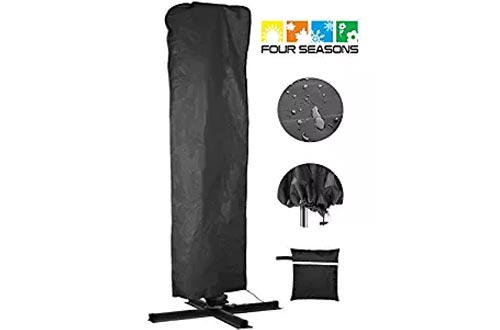Umbrella Covers,Patio Outdoor Offset Umbrella Cover Waterproof Market Parasol Covers with Zipper for 7ft to 13ft Outdoor Umbrellas Large