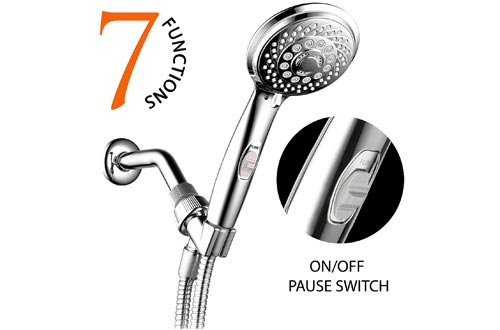 HotelSpa 7-Setting AquaCare Series Spiral Handheld Shower Head
