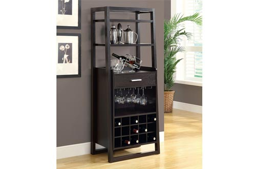 "Monarch Specialties I 2543, Home Bar, Ladder Style, Cappuccino, 60""H"