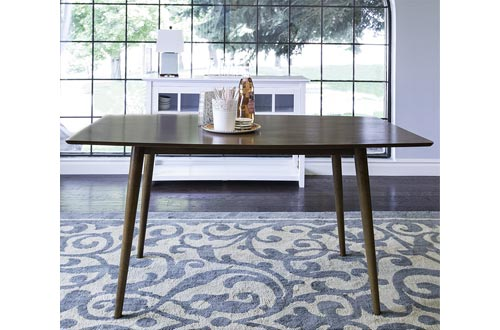 "WE Furniture 60"" Mid-Century Wood Dining Table - Acorn"