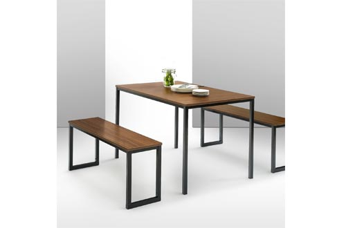 Zinus Modern Studio Collection Soho Dining Table with Two Benches/3 piece set