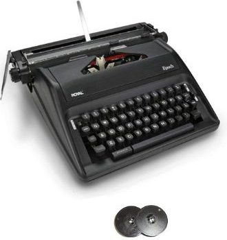 Royal Epoch Portable Manual Typewriter with Spool Typewriter Ribbon (2-Pack)