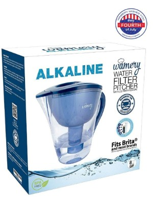 Alkaline Water Pitcher. 2 litres or 8 cups. Portable Filter system for Tap Water